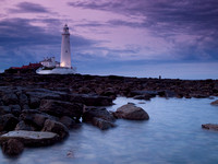 St Mary's Lighthouse Sunset
